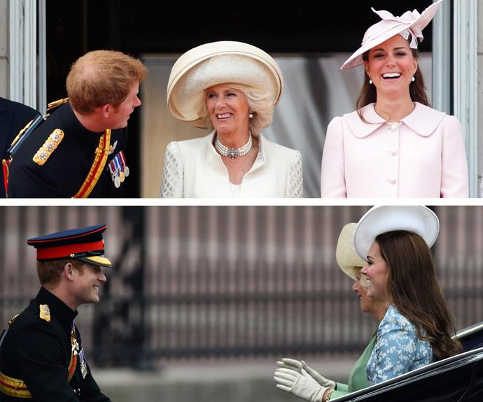 These two are a hoot! Harry proves to be the best company during Trooping the Colour.