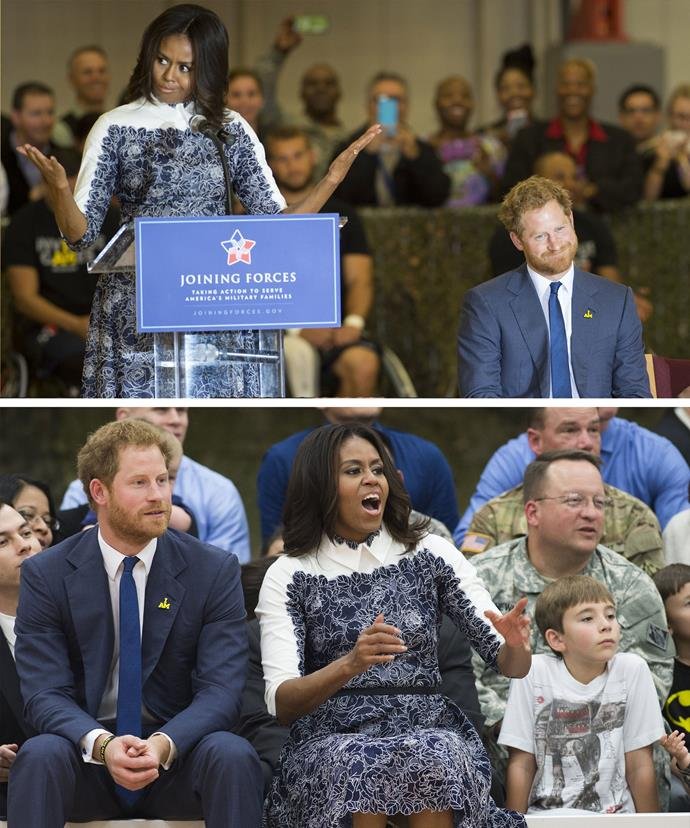 Prince Harry and Michele Obama prove that they're close pals!