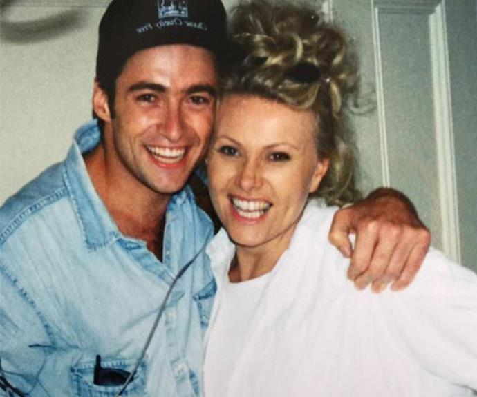 """Once upon a time ...."" Hugh Jackman uploaded this delightful shot with his wife Deborra-Lee Furness from back in the day. What fresh-faced cuties!"
