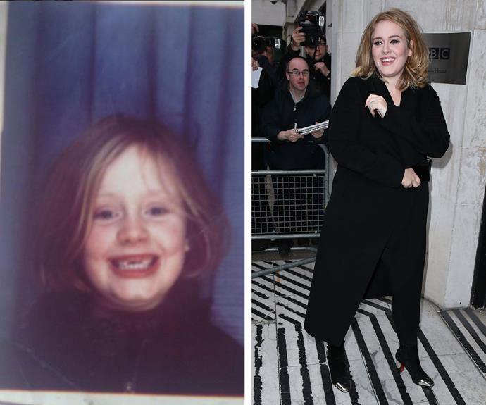 "How cute is Adele? We think she hasn't changed a bit. ""Throwing it way back with this! Thank you for all the love, I am so blown away. X"" she wrote on her Instagram."