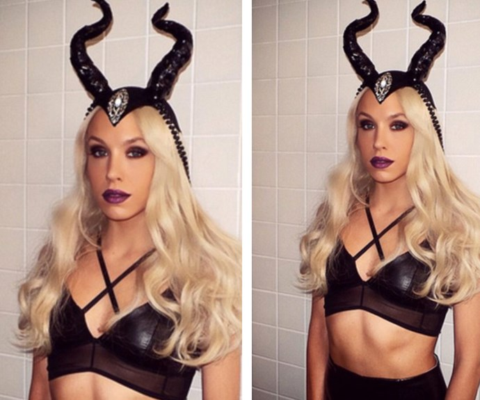"""What's race day without some outrageous fashion – enter Kyle Sandilands' better half Imogen Anthony and her 2014 [Halloween-inspired](https://www.nowtolove.com.au/tags/halloween