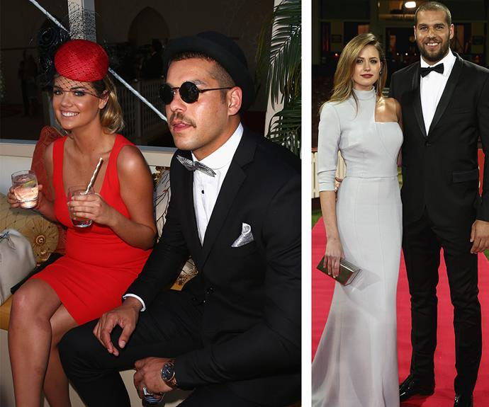 "At 2014's Melbourne Cup, onlookers swore that sparks were flying between American model Kate Upton and AFL star Lance ""Buddy"" Franklin, who is a taken man thanks to his romance with now-wife Jesinta Franklin (R)."