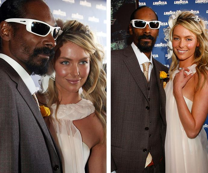 When Snoop met Jennifer Hawkins! Perhaps one of the most off-brand celeb guests ever to be flown out for the bash was Snoop Dogg in 2008. His appearance came complete with an enormous entourage and some serious swag. Bonus points for the rapper actually obeying the dress code and rocking a suit.