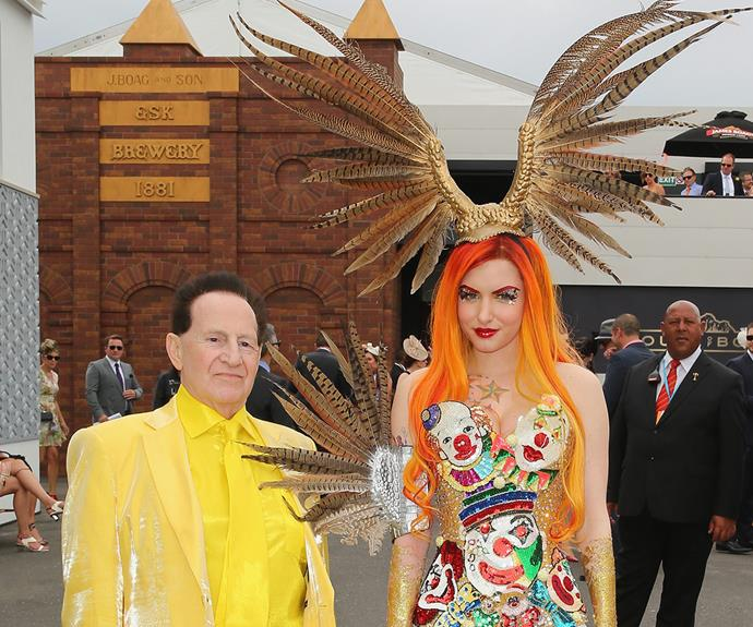 People watching at the Melbourne Cup can be almost better than the race itself. Case in point when Australia's most colourful couple, Gabi Grecko and Geoffrey Edelsten, became engaged in the middle of the busy walk way at the 2014 event.