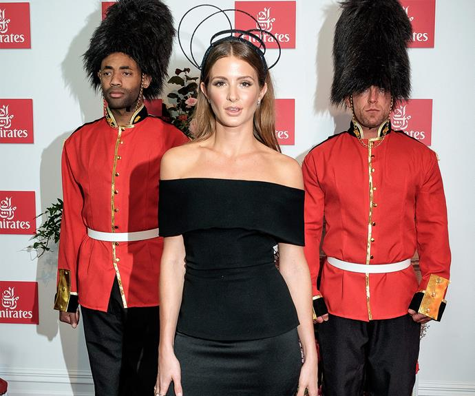 London Calling! *Made in Chelsea* reality star, Millie Mackintosh brought a touch of the motherland with her personal royal guards.