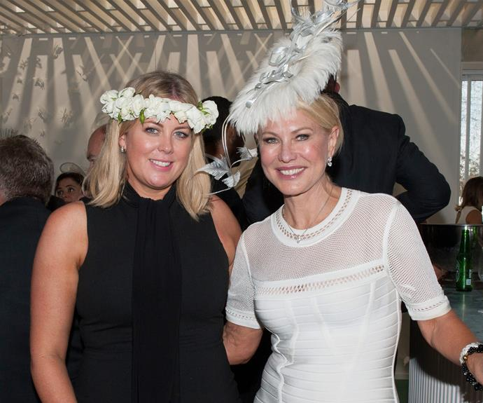 These blondes certainly do have more fun! Sam Armytage hangs out with fellow TV personality, Kerri-Anne.