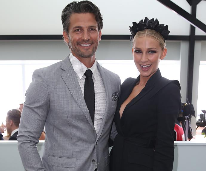 Former-Bachie Tim Robards was coming up roses with his partner, Anna Heinrich's matching suit!