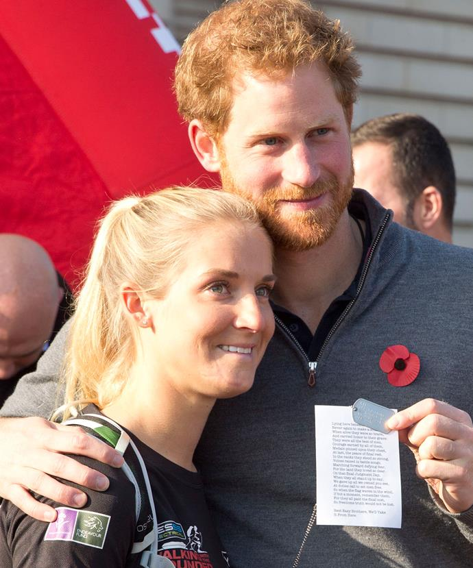 Prince Harry Hugs Wounded Solider