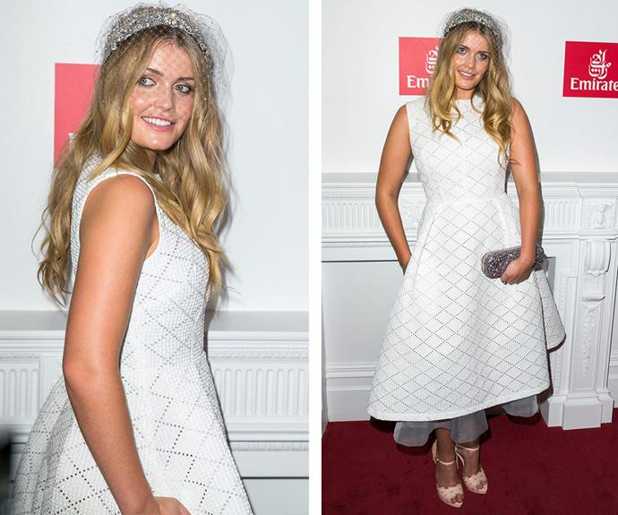 There's a royal in the house! Princess Diana's niece, [Lady Kitty Spencer,](http://www.womansday.com.au/style-beauty/fashion/meet-princess-dianas-niece-lady-kitty-spencer-13792) showed off her style credentials in a chic white dress with a tulle underlay.