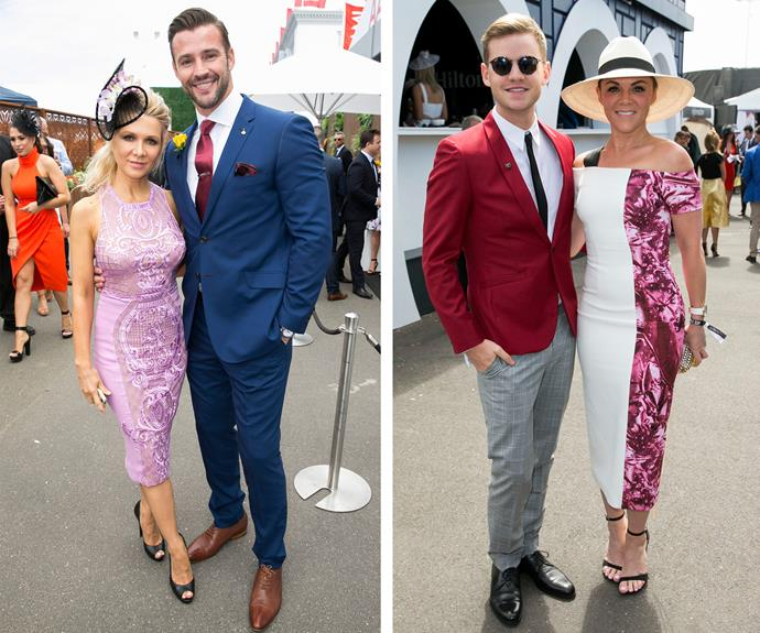 Danielle Spencer looked pretty in pastels as she posed with model, Kris Smith. Meanwhile the hilarious Joel Creasey looked very handsome with his races date Em Rusciano.