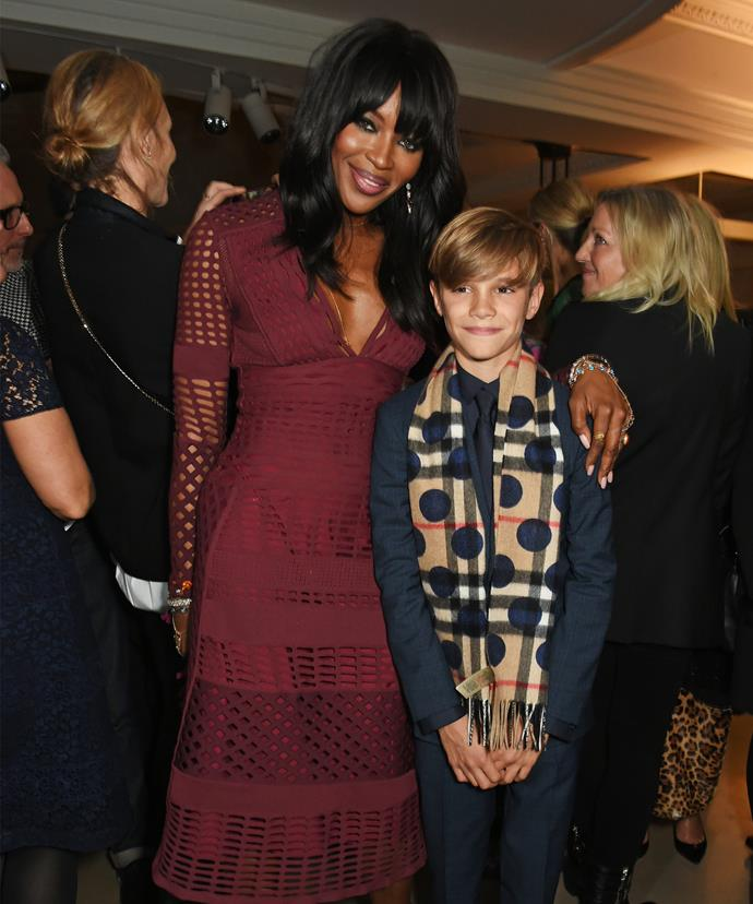 A-list pals... The 13-year-old rubbed shoulders with supermodel and fellow co-star Naomi Campbell at the event.