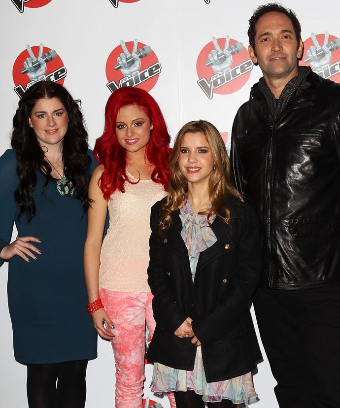 Karise with fellow finalists Sarah De Bono, Rachael Leahcar and Darren Percival.