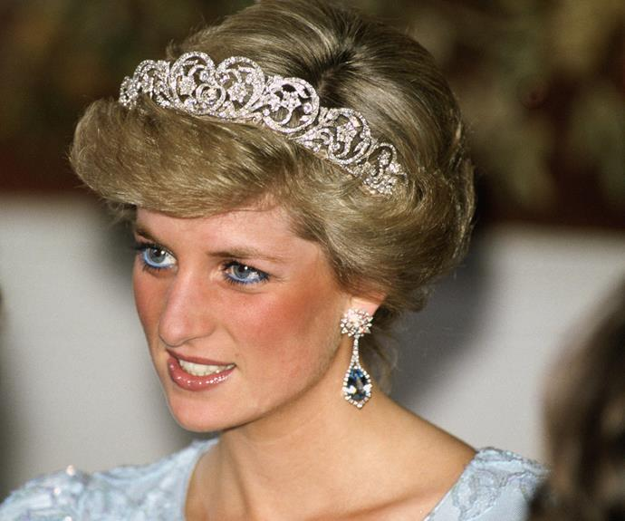 Adding to her family's treasure, Princess Diana's Spencer tiara. It has been worn by other female members of the Spencer family on their wedding days, and was extremely loved by Diana.