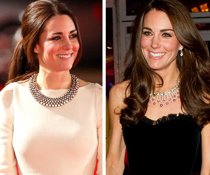 Making her own traditions: Duchess Catherine is following the royal lead when it comes to being decorated. The mother-of-two LOVES a statement necklace.