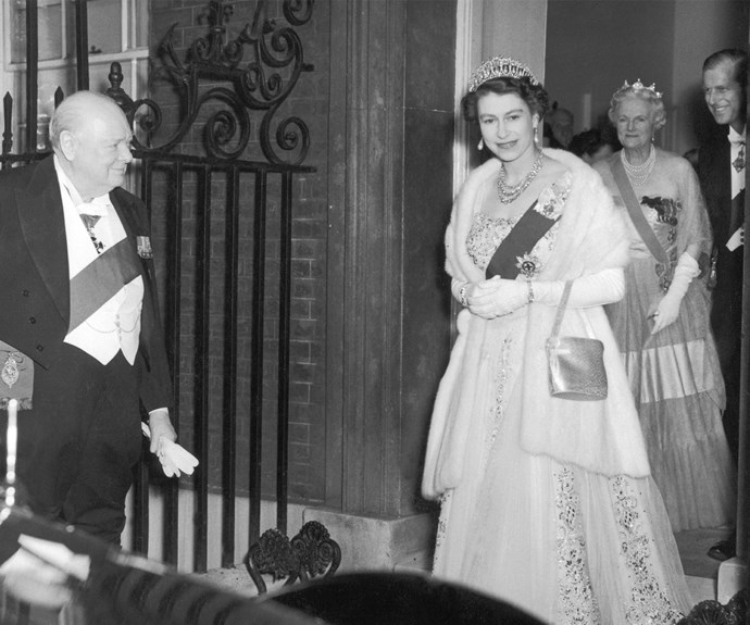 After Mary's death, the jewels were passed on to Queen Elizabeth in 1953. In her early reign, Elizabeth frequently wore the sparkling piece.