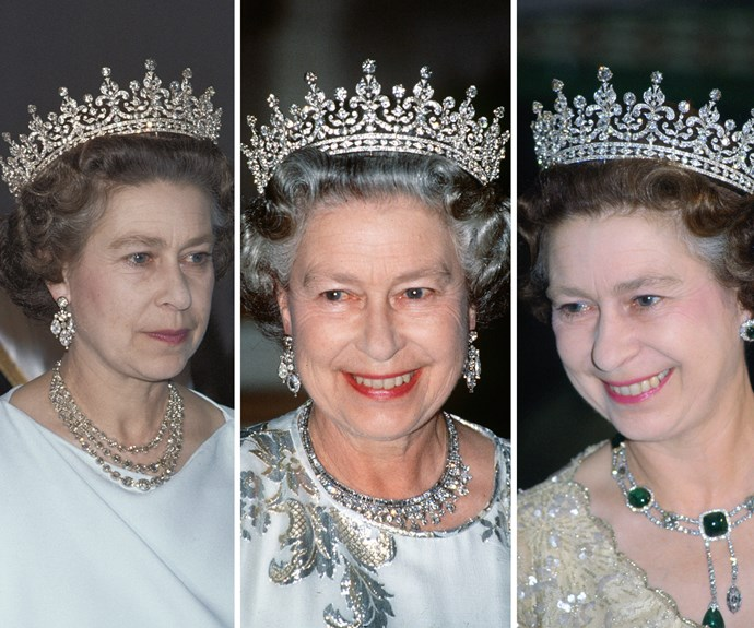 Of course the Queen has a favourite piece, the Girls of Great Britain and Ireland tiara. As the name suggests, it was purchased by a committee of girls from Great Britain and Ireland in 1893 for a then future-Queen Mary. The illustrious jewelled crown was handed down as wedding gift to Queen Elizabeth from her mother. Interestingly, the crown used to have pearls, but they were added to another tiara.