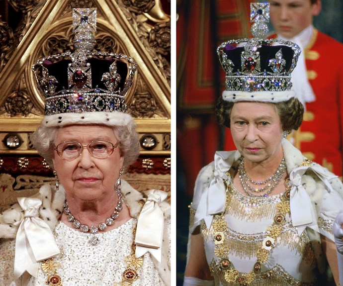 The Imperial State Crown was originally made in the 15th century, however the crown worn by Britain's longest-reigning monarch is actually a remake because the gems were too heavy! She first wore the stunning item in 1937 and has since worn it at each State Opening of Parliament.