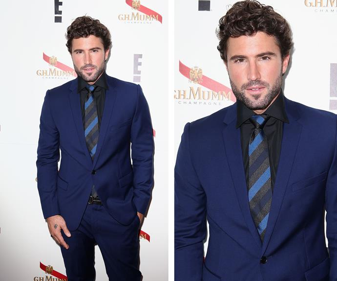 The Kardashian's step-brother Brody Jenner oozed clean-cut chic in the *E!* tent.
