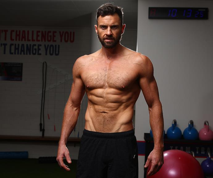 The single 36-year-old has a newly acquired six-pack and rippling biceps, after he took control of his body following an unhealthy diet full of beer and fast food.