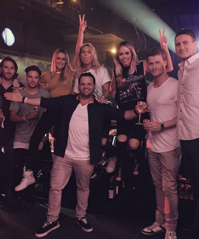 Richie and Tully hang out with friends at the David Guetta concert in Melbourne.