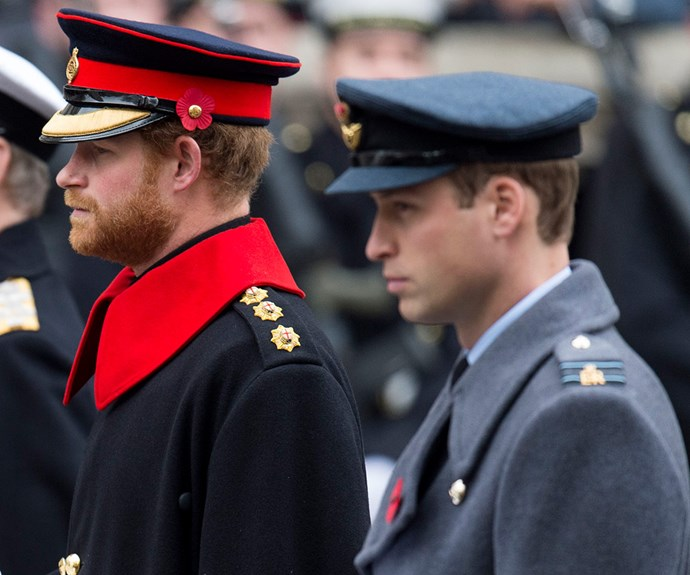 Brothers Prince William and Prince Harry made sure to pay their respects.
