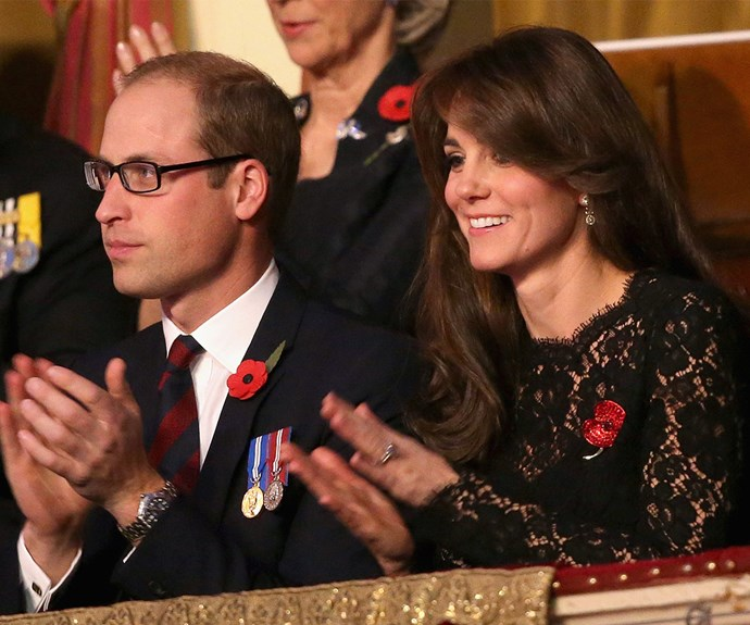 The night before the royal family attended the Festival of Remembrance at the Royal Albert Hall in London.