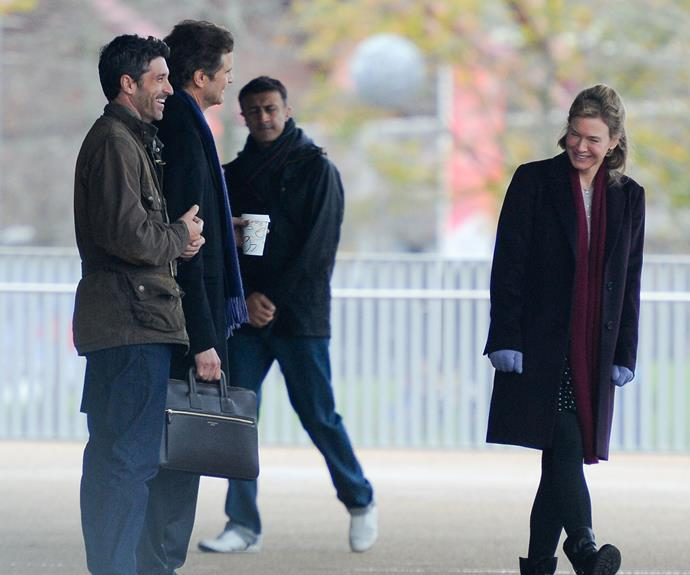 Patrick Dempsey, Colin Firth and Renee Zellweger have been working on the film, shot at various locations in the UK, since at mid-September.