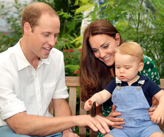 The Duke and Duchess released these photographs just before George's first birthday