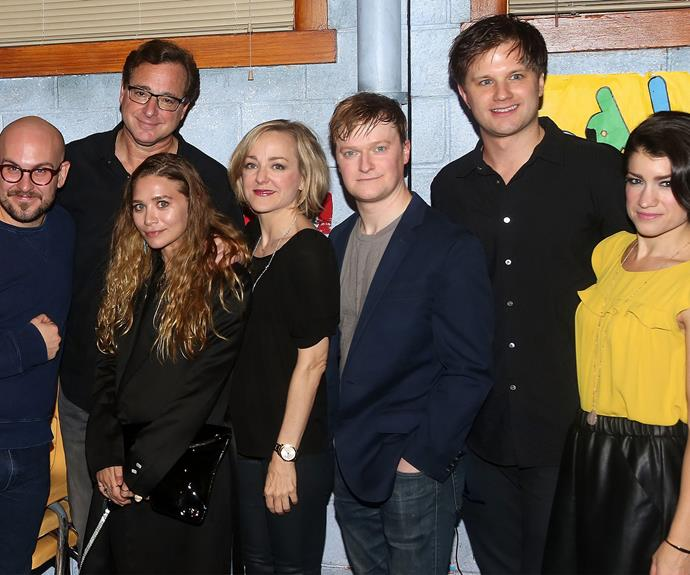 It was a full house for Bob Saget's opening night for the Broadway play *Hand to God*. The 59-year-old was thrilled when his famous on-screen daughter, Ashley Olsen stopped by to show her support.