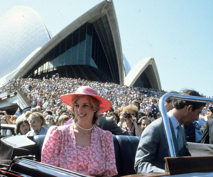 Charles and Diana work their way through the adoring Sydney crowds in 1983.