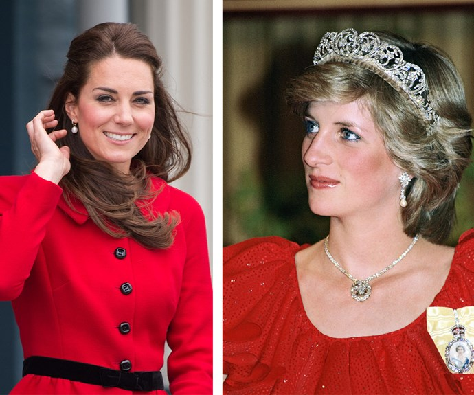 What's an official visit without a touch of glamour? Catherine and Diana both have regal elegance in spades.