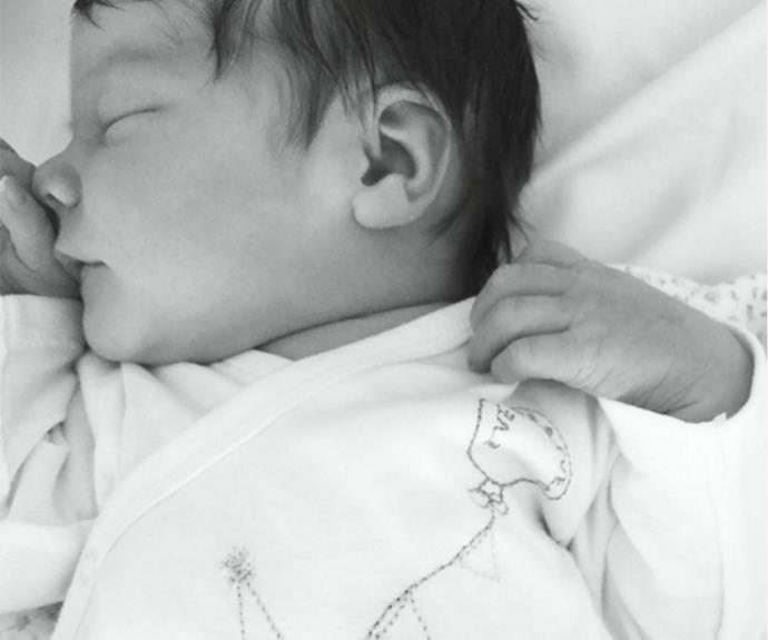 Rachel proudly posted a photo of her newborn daughter, Sloane.