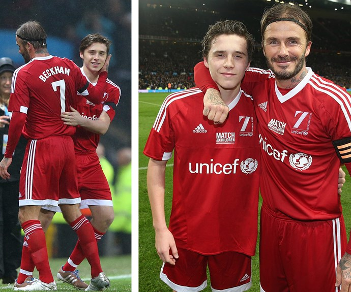 David and Brooklyn Beckham