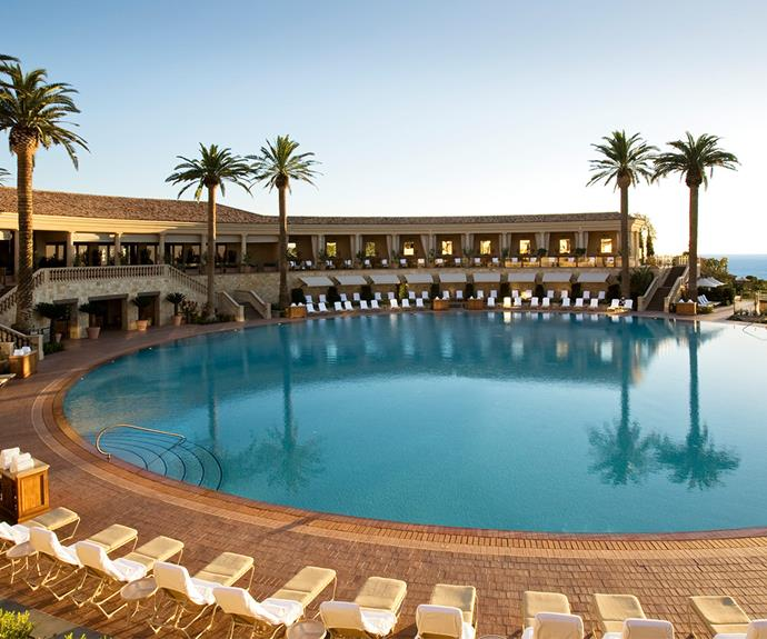 The coliseum pool is one the largest circular pools in the world. [Image/courtesy of Pelican Hill]