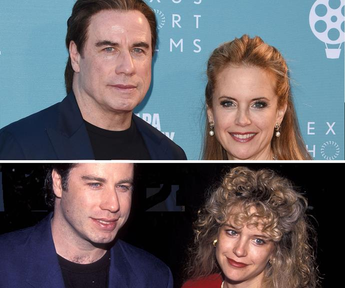 Even his wife Kelly Preston refuses to age gracefully. The couple's faces today (TOP) are about as smooth as they were 23 years ago (BOTTOM).