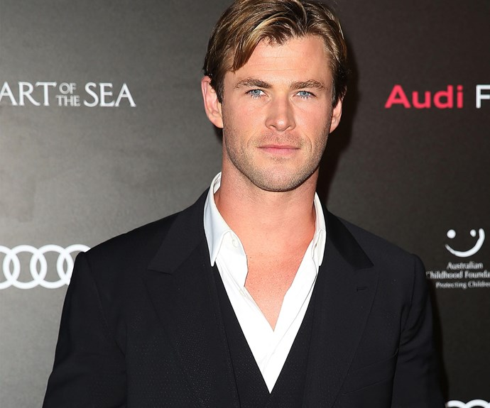 Chris Hemsworth was excited to attend the charity screening of his new flick.