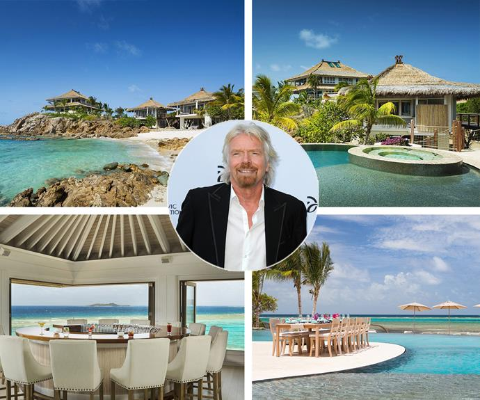 "You can now check into Sir Richard Branson's super luxurious Moskito Island. The Virgin mogul has added the stunning property to his already opulent portfolio and the Caribbean lsland is pure magic. Richard couldn't be more thrilled about his new digs, saying in a statement, ""It's well known that I adore the beautiful and unspoilt British Virgin Islands and I'm thrilled that the new Branson Estate on Moskito Island is joining the Virgin Limited Edition collection."""