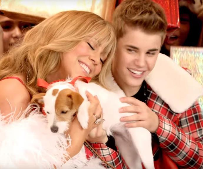 In 2011 Bieber teamed up with Mimi to recreate her jingle, *All I Want For Christmas Is You* and the results were glorious.