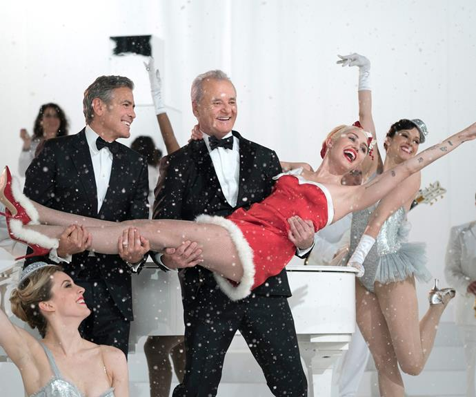 George Clooney AND Miley Cyrus! That's got our bells jingling!