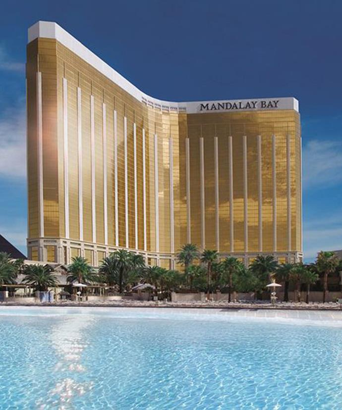 The Mandalay Bay overlooks seemingly endless crystal-clear pools.