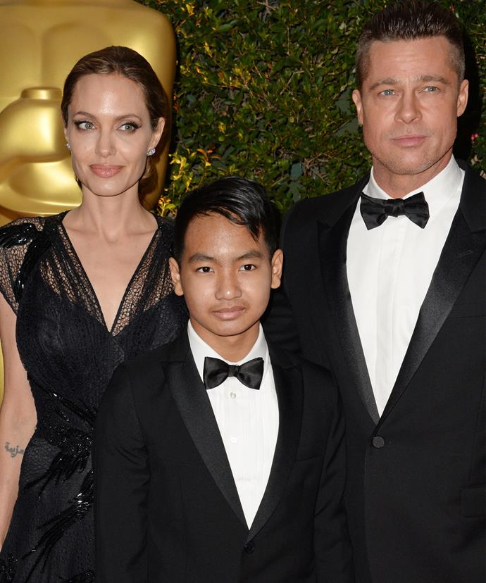 The dashing teenager joins his parents on Hollywood red carpets.