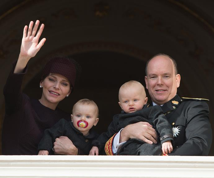 Prince Albert and Princess Charlene's twins, Jacques and Gabriella take centre stage for Monaco's National Day celebrations.