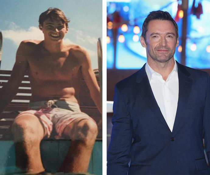 "Hugh Jackman embraces the warmer months by sharing this shirtless pic (L) ""Summer Lovin in the mid-80's. #throwbackthurday,"" he captioned it."