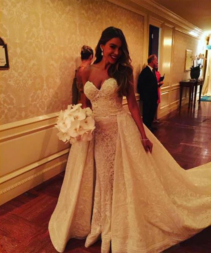 The bride's stunning dress!