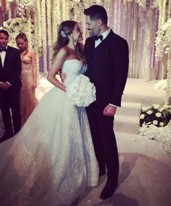Sofia and Joe make the most gorgeous bride and groom.