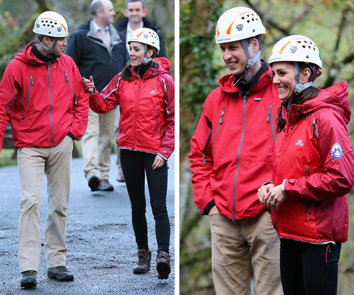 The duo also went abseiling at The Towers Residential Outdoor Education Centre.