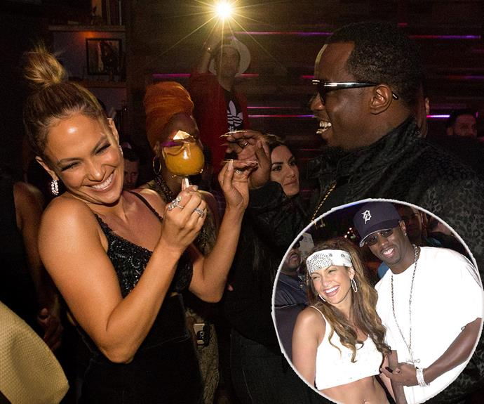 "There were no hard feelings for [Jennifer Lopez](http://www.womansday.com.au/style-beauty/fashion/geri-halliwell-wore-jlos-grammys-dress-first-13152) and her former flame P Diddy, aka Sean Combs, when they hung out at the AMA after party this week. The pair dated 15 years ago (inset) but broke up shortly after the rapper was involved in a nightclub shooting. The 46-year-old even gave a shout out to his ex at the event, ""Can we give it up for Jennifer Lopez one time?"""