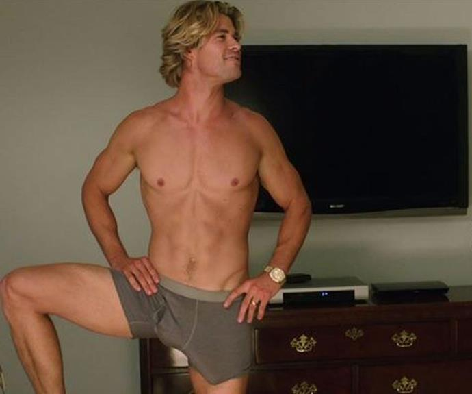 Here's the Chris Hemsworth we all know and love posing up a storm in the [*National Lampoon*'s remake*Vacation.*](http://www.womansday.com.au/entertainment/movies/watch-the-full-trailer-for-the-national-lampoons-remake-vacation-12785)