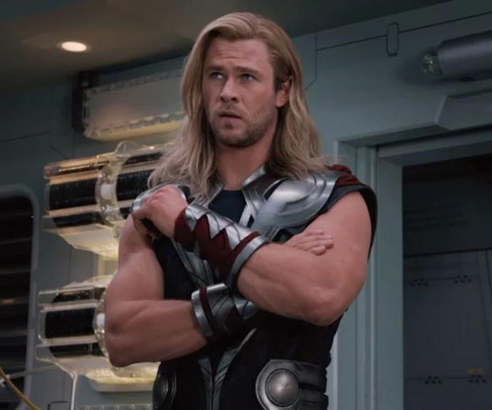 With the body of an ACTUAL GOD, Chris is known for his ripped torso and bulging arms.