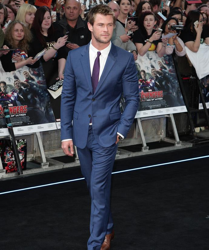 The usually-buff actor said that although he was already leaner than he was in *Thor*, dropping the weight for *In The Heart Of The Sea* was the most challenging part of the role.